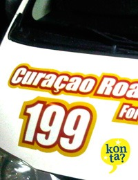 Curacao road service ongeluk