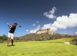 Golfen bij Old Quarry in Curacao
