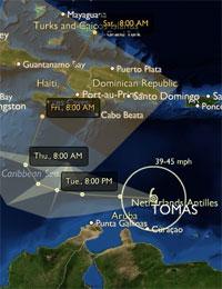 Orkanen Curacao Tomas