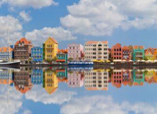 Punda het centrum van de wereld in Curaçao.